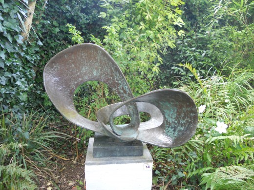 The sculpture garden at the Barbara Hepworth museum in St Ives