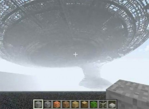 An image from a popular Minecraft Youtube video. Yes, this is the Starship Enterprise.