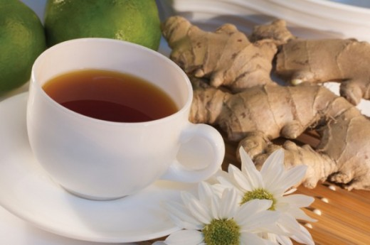 Ginger tea is one of several homemade remedies for bloating.