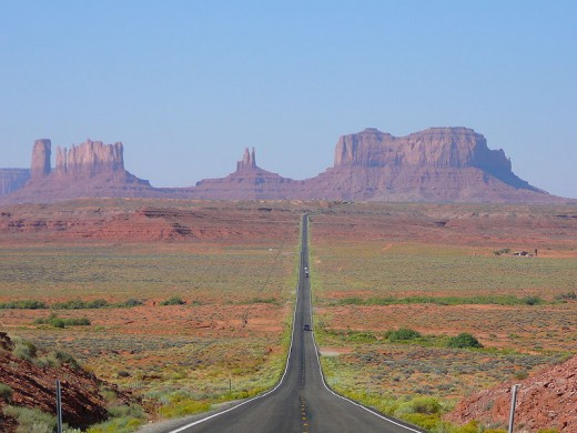 Monument Valley seen from the north