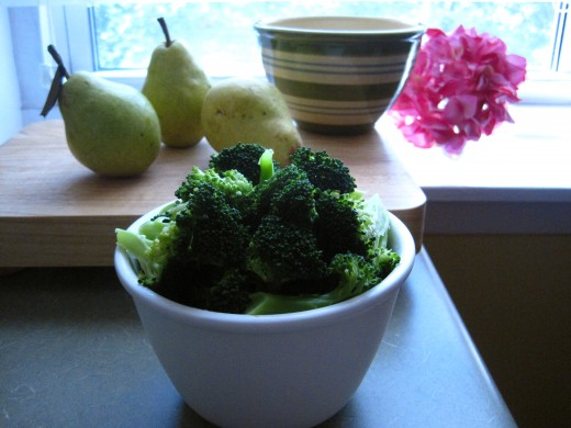 Boil Broccoli in Low Sodium Fat Free Chicken Broth For More Flavor
