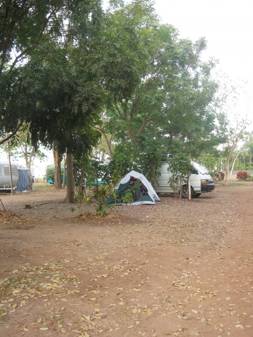 My tent in Shady lane