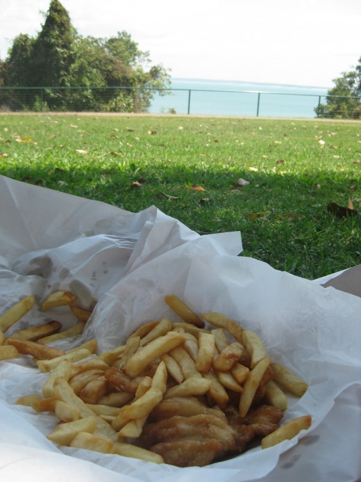 Have a picnic by the water- try some local barra