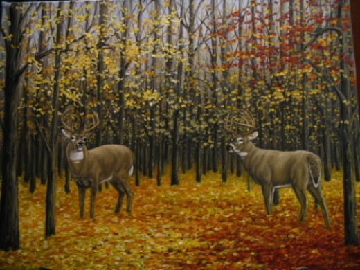 Big Buck Oil Painting