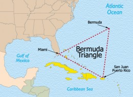 The 3 Locations That Make Up The Triangle: Miami; Puerto Rico, and Bermuda