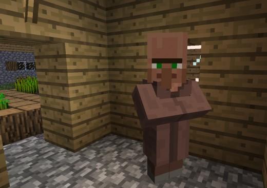 A minecraft 1.9 NPC villager.
