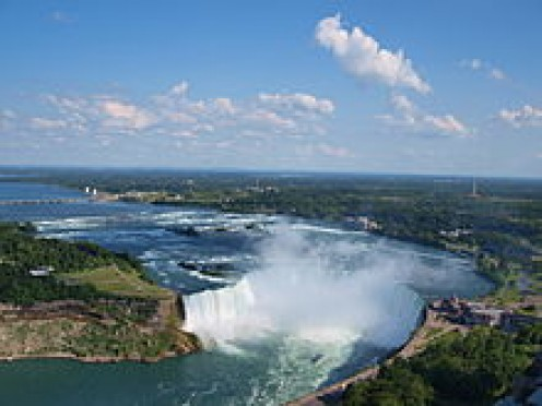Horseshoe falls in Niagara falls