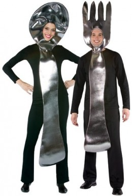 Fork and spoon couples costume