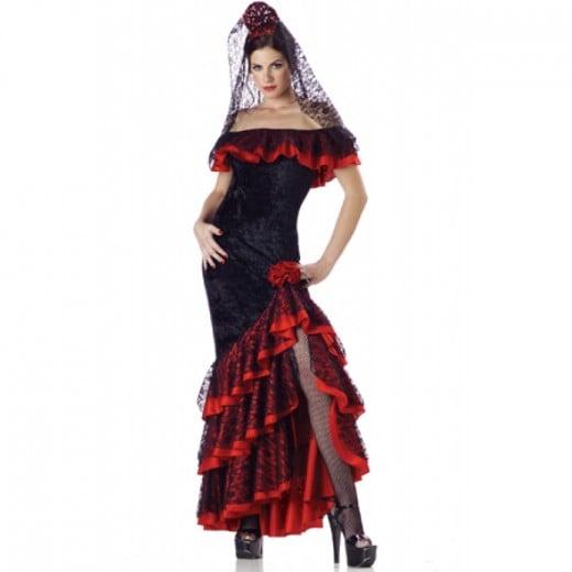 flirty Spanish dancer dress