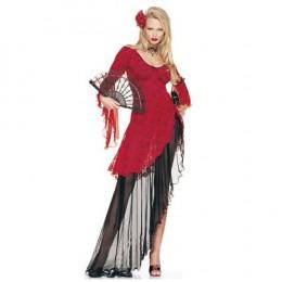 Spanish Flamenco Carmen Dancer Dress