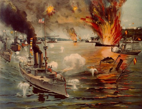 The U.S.S. Olympia at the Battle for Manila Bay