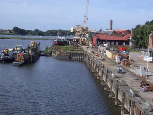 Lauenburg ship repair dock