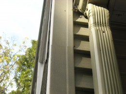 Improperly installed vinyl siding corners allow water infiltration to work behind the siding and penetrate into the house.