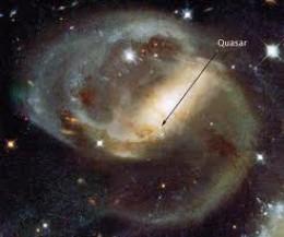 Quasar from a black hole