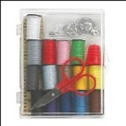 Lots of clothing repair items are in your sewing kit.