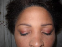 Eye work, brows and eye lid, even under the eye shading.