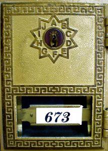 Locked post office box.