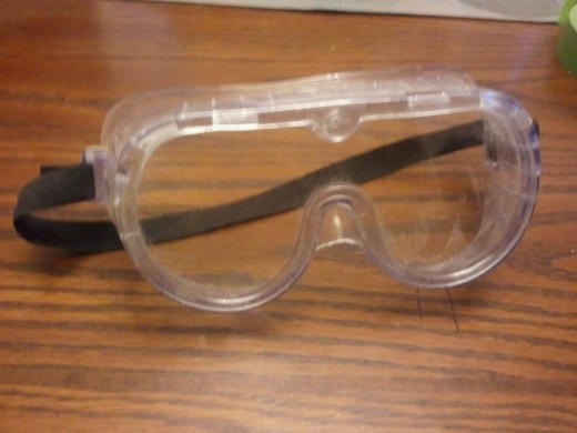 Goggles to protect your eyes against glass dust. DO NOT DRILL WITHOUT THIS!
