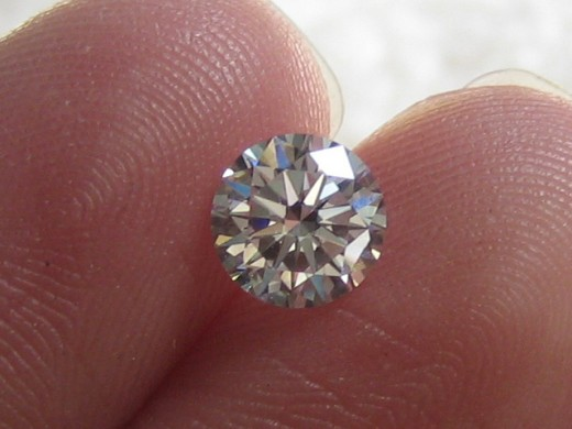4 Carat Genuine Diamond Coated CZ Stone $250.00