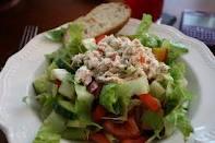 Tuna Salad with beats and avocado.