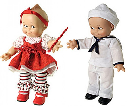 Red Liquorice and Sailor Boy Kewpie Dolls