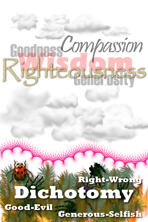 Spiritual goodness is unblemished. It has no regard for self. Artwork by author.