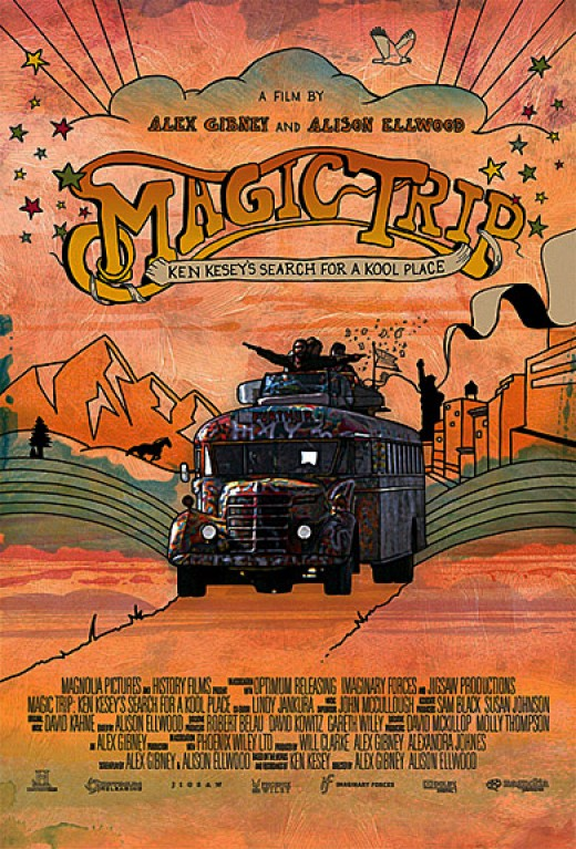 "poster for the documentary, ""Magic Bus"""