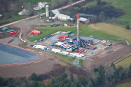 Fracking well site.
