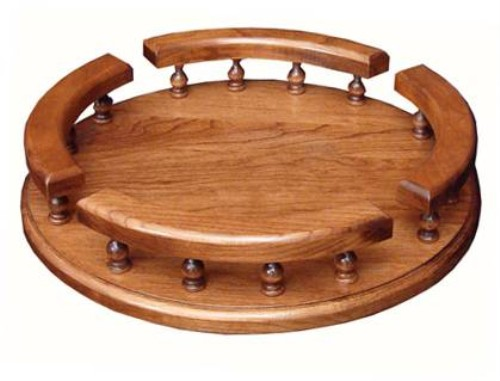 Lazy Susan with rail