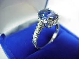 Cushion-cut tanzanite ring
