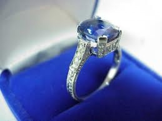 Cushion-cut tanzanite ring
