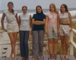 "It was the summer of ""69"" Dalia, Johanna,me, Jill and Sandy."