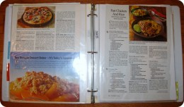 Clean and streamlined recipe book.