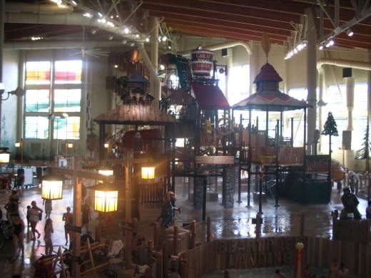 Birds-eye view of Great Wolf Lodge's Indoor Water Park