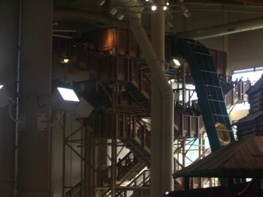 Stairwell and conveyor belt up to the Howling Tornado