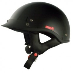 VCAN V531 Cruiser Solid Gloss Black Large Half Helmet Review