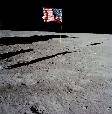 Blowin' in the wind: The moon landing flag