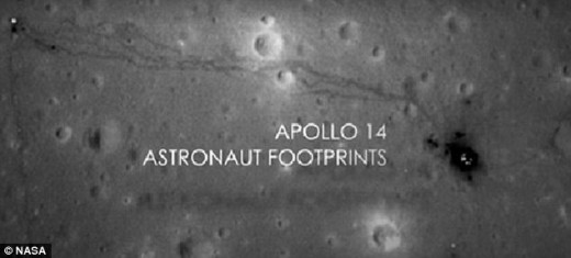 Nasa claims that these are footprints that were left by Neil Armstrong and Buzz Aldrin in 1975