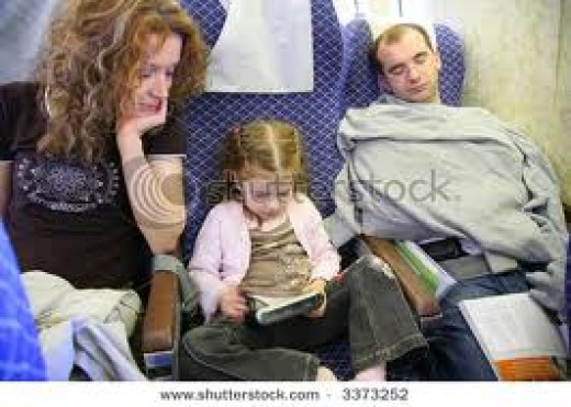 It can be exciting  traveling as a family on long plane flights.  Keep the little one busy with fun games!