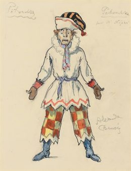 Petroushka Costume designed by Alexandre Benois