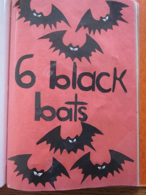 6 Black Bats Flying All Around!