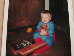 """Superman"" Dave reading his Halloween book! '85"