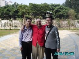 Friends enjoying Christian fellowship