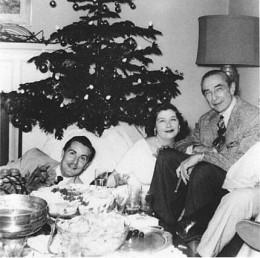 Edward Wood on left, Bela Lugosi on the right