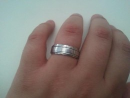 My wedding ring is stainless steel.