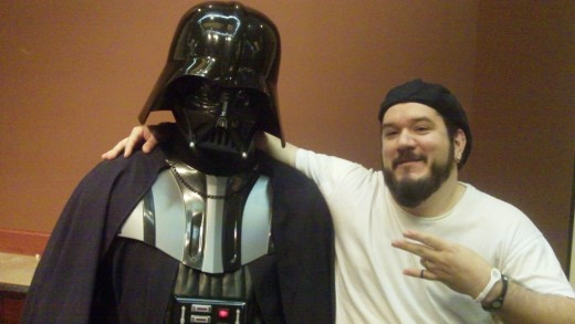 A Darth Vader in full costume showed up on Saturday to walk through the main ballroom.