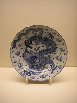 Ming dynasty chinese blue and white porcelain
