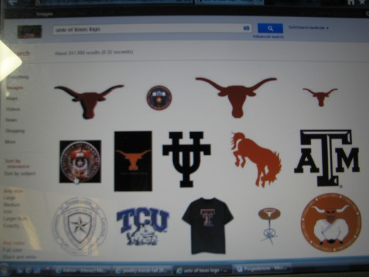 Find Sports Team Logos: find Logos for tag by typing the school+Logo on Google Images
