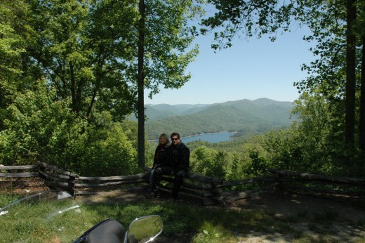 Alex & Michelle Overlooking Fontana Lake