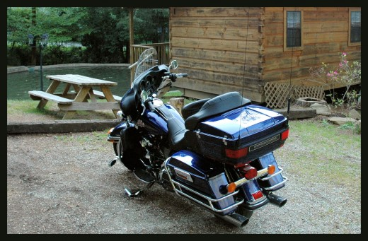 Parked at Kirkland Creek Cabin